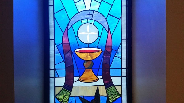 sacrament stained glass